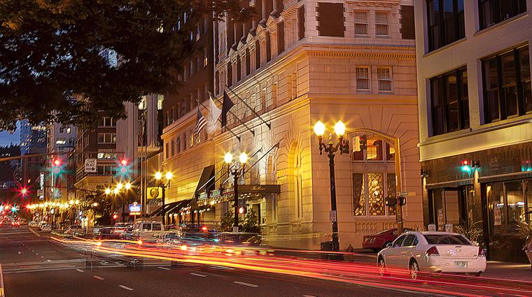 the benson hotel entrance night