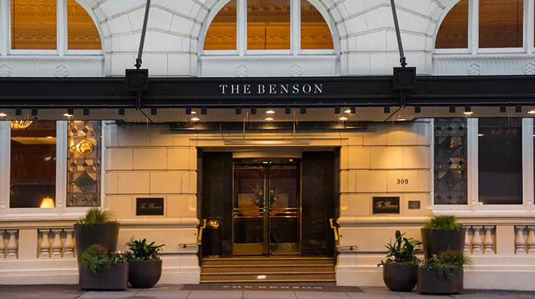 the benson hotel exterior entrance