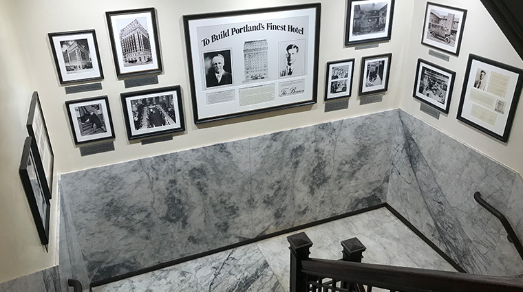 the benson hotel historic stairwell
