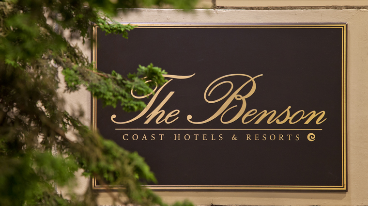 the benson hotel sign