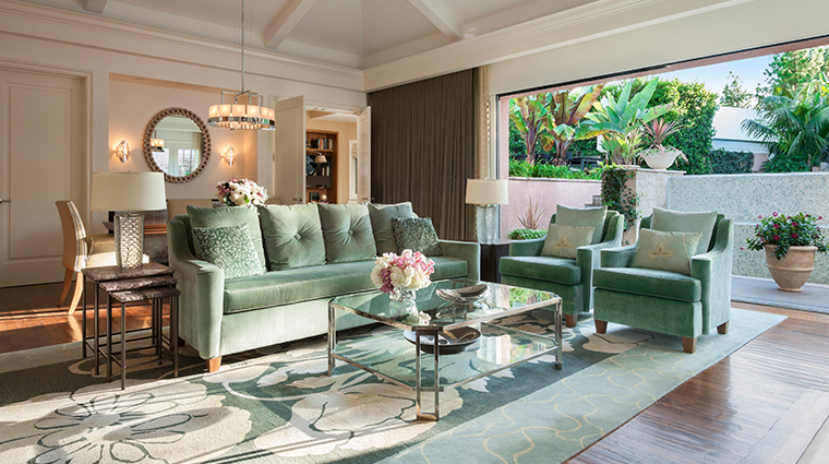 the beverly hills hotel bungalow mint