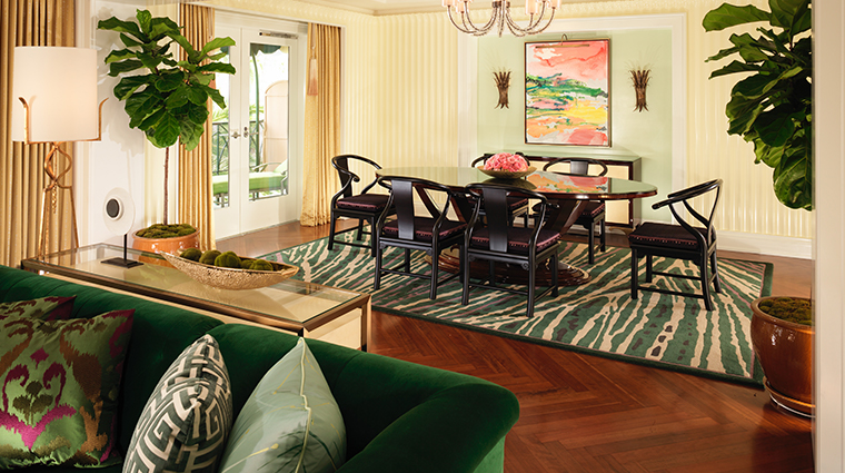 the beverly hills hotel presidential suite living room