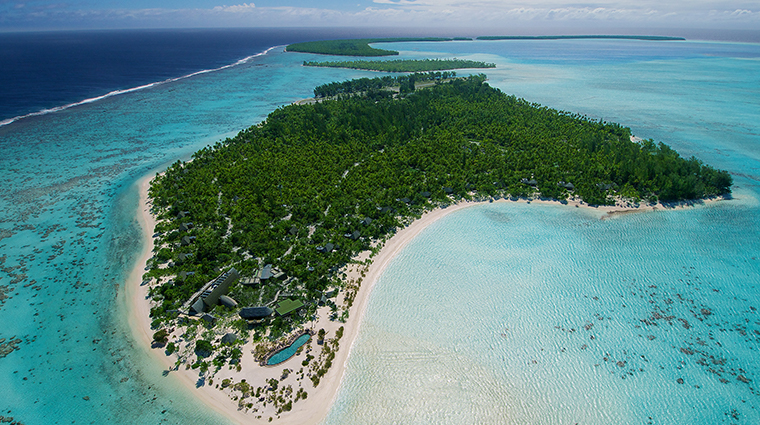 the brando tetiaroa private island aerial