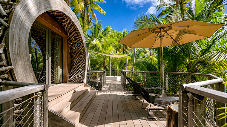 the brando tetiaroa private island spa front deck