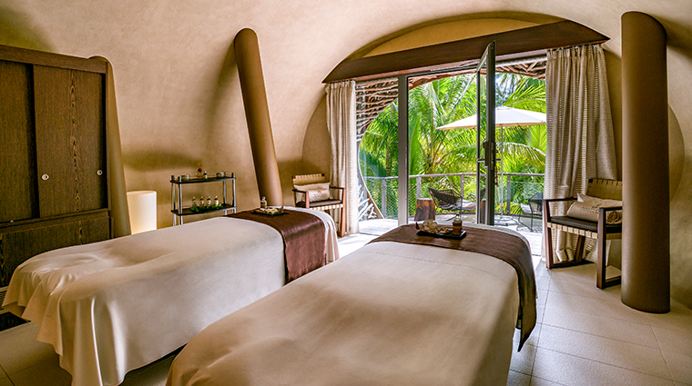the brando tetiaroa private island spa interior