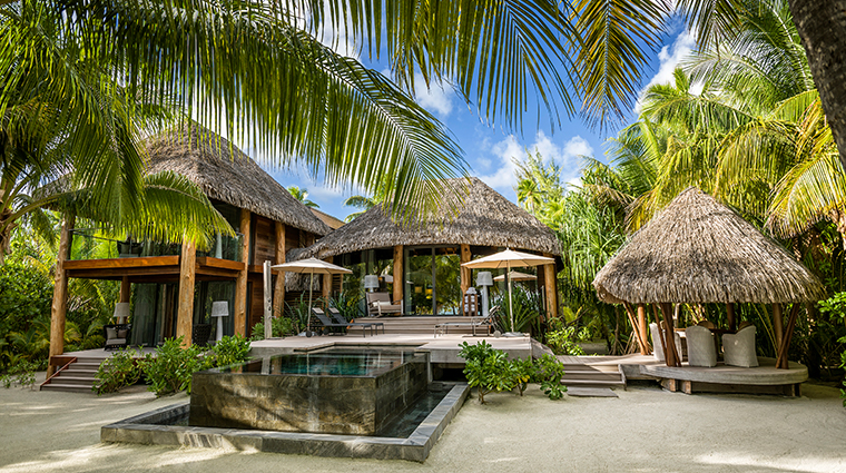 the brando tetiaroa private island three bedroom villa exterior