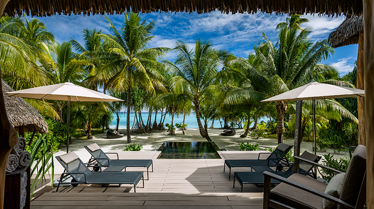 the brando tetiaroa private island two bedroom villa deck view