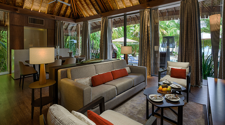 the brando tetiaroa private island two bedroom villa living room