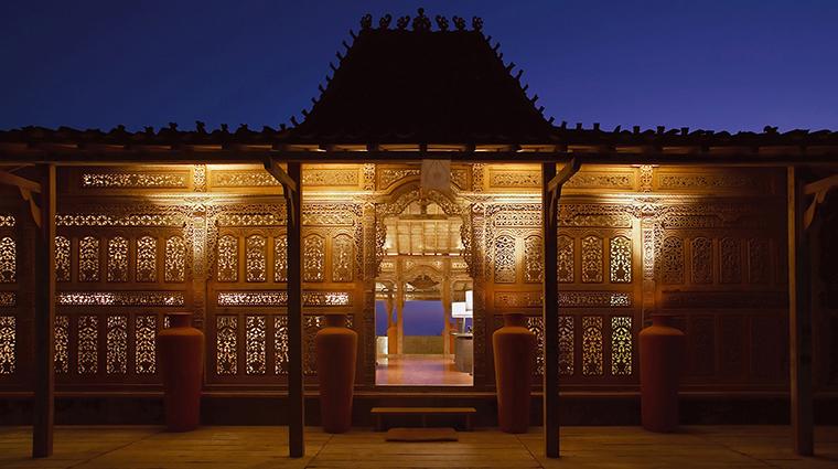 the bulgari spa bali spa exterior entrance