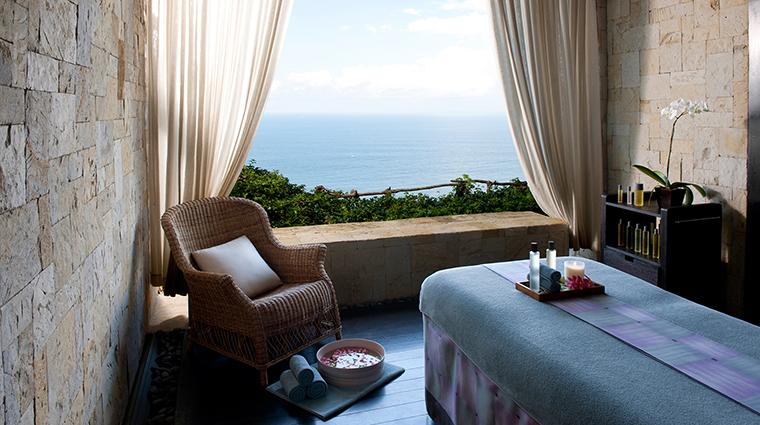 the bulgari spa bali treatment room view