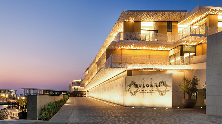 bulgari resort and residences dubai entrance
