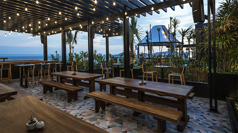 the cape a thompson hotel rooftop beer garden