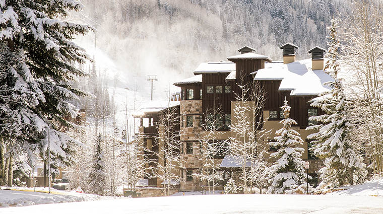 the chateaux deer valley winter view