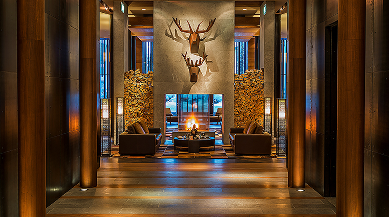 the chedi andermatt entrance