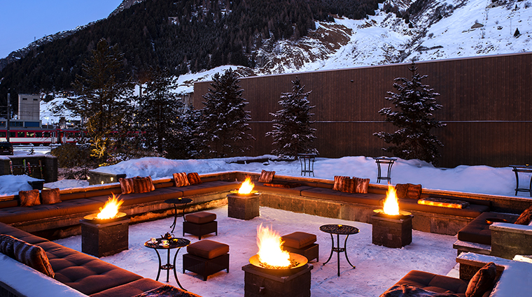 the chedi andermatt firepits