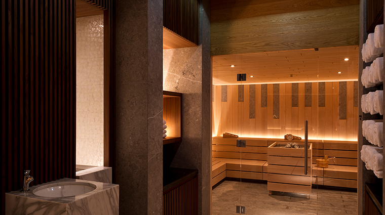 the chedi andermatt spa sauna room
