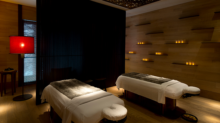 the chedi andermatt spa treatment room