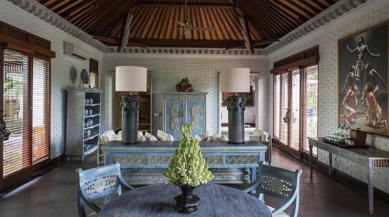 the chedi club tanah gajah ubud bali Hadiprana Villa Living Area