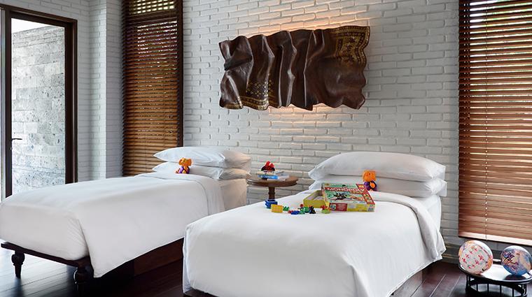 the chedi club tanah gajah ubud bali family villa childrens bedroom