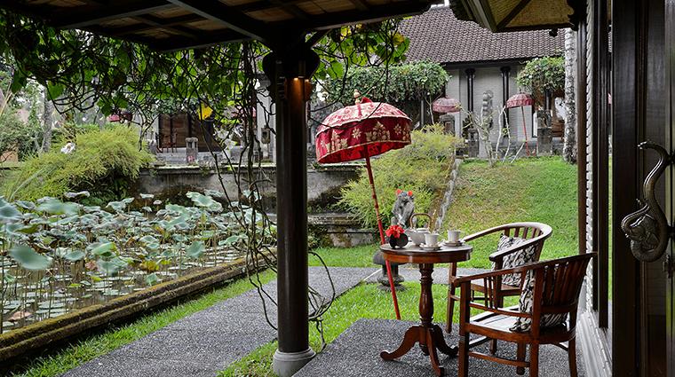 the chedi club tanah gajah ubud bali one bedroom suite terrace