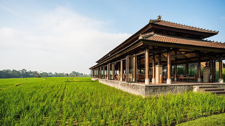 the chedi club tanah gajah ubud bali restaurant exterior