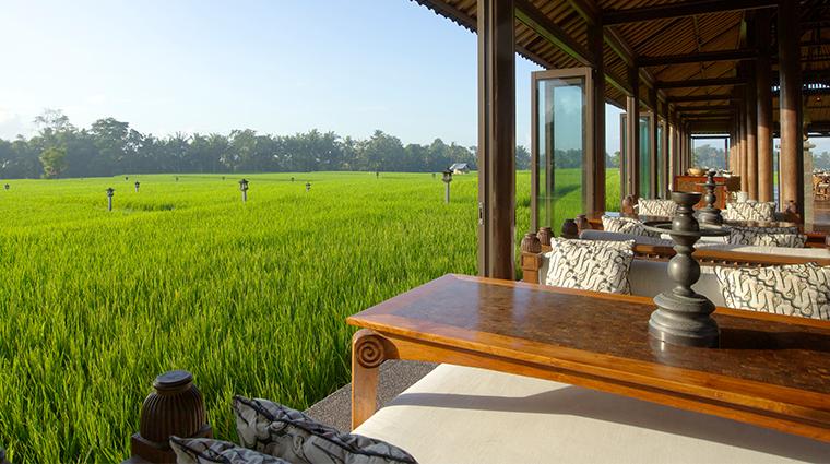 the chedi club tanah gajah ubud bali restaurant view
