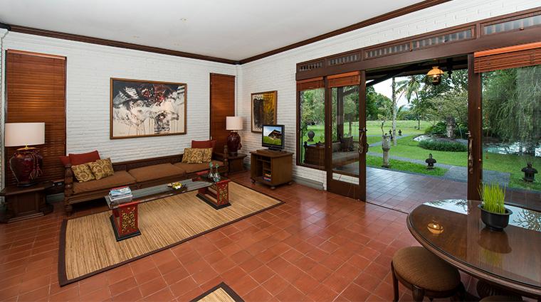 the chedi club tanah gajah ubud bali spa pool villa living area