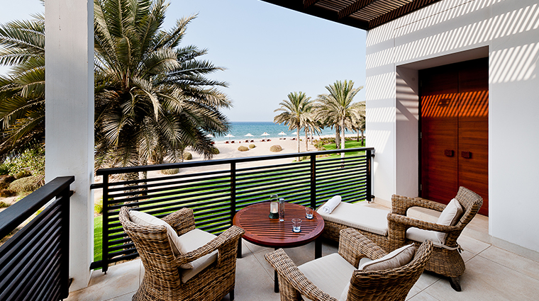 the chedi muscat blub suite balcony