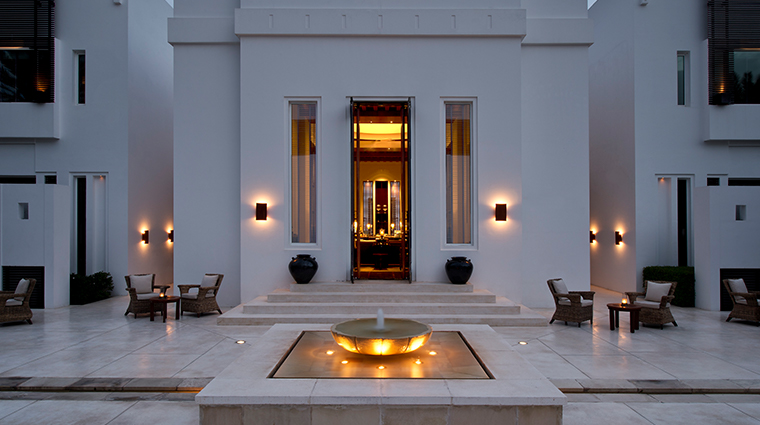 the chedi muscat club lounge terrace