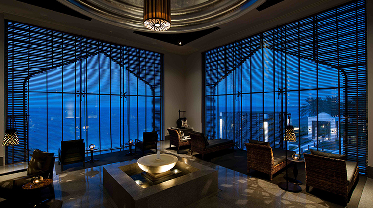 the chedi muscat relaxation lounge