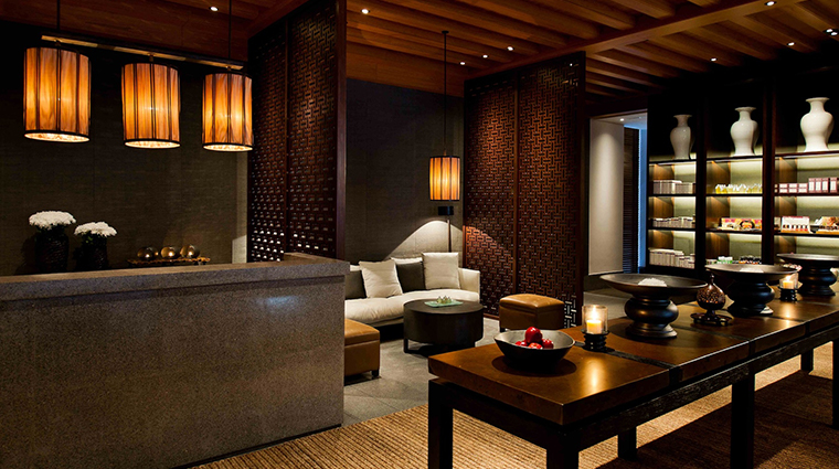 the chedi muscat spa reception