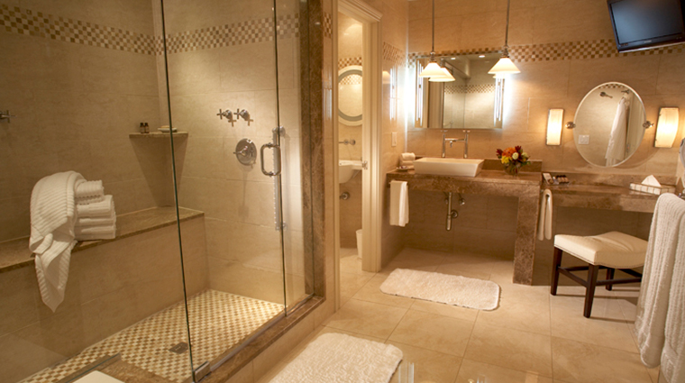 the cincinnatian hotel executive deluxe king bathroom