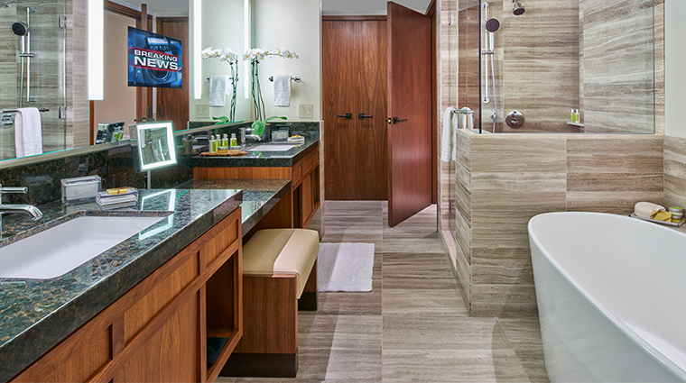 the clement hotel guest suite bathroom