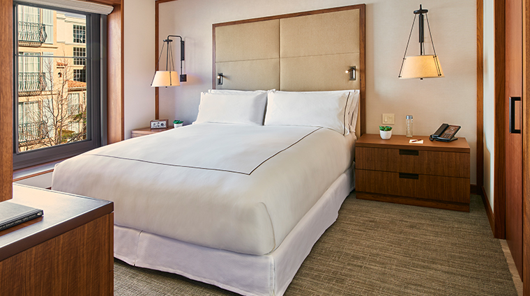 the clement hotel guest suite bedroom