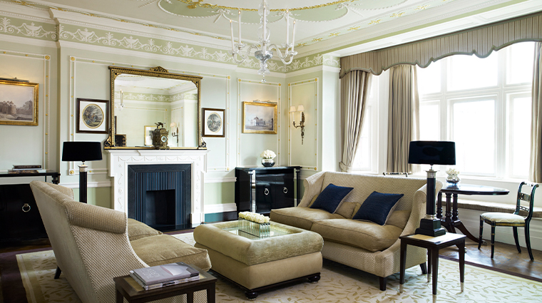 the connaught suite living room