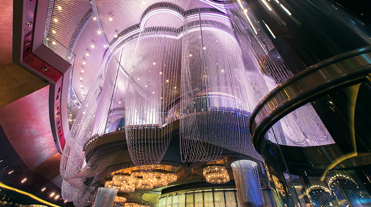 the cosmopolitan of las vegas new chandelier bar
