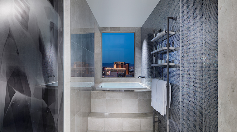the cosmopolitan of las vegas new terrace bedroom bathroom