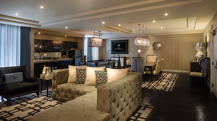 The Cromwell suite living room