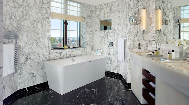 the dorchester Harlequin Bathroom