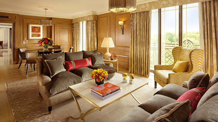 the dorchester Park Suite Sitting Room