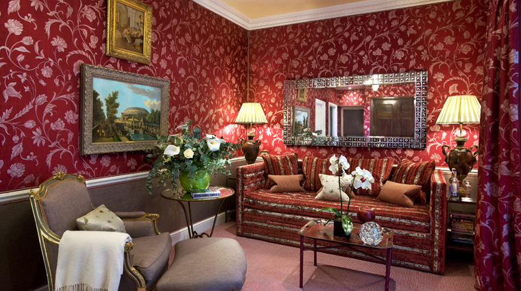 The egerton house hotel V&A suite sitting area