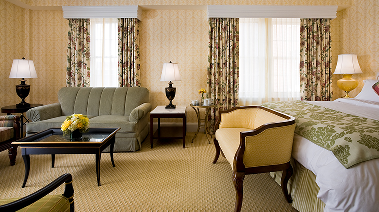 the fairfax at embassy row superior suite living area