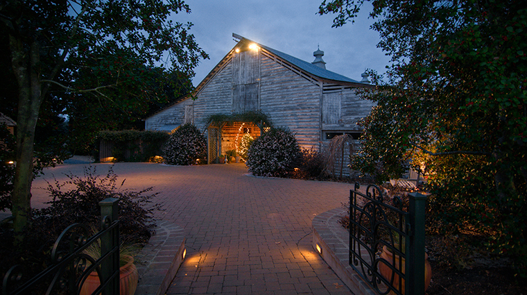 the fearrington house inn barn at dusk