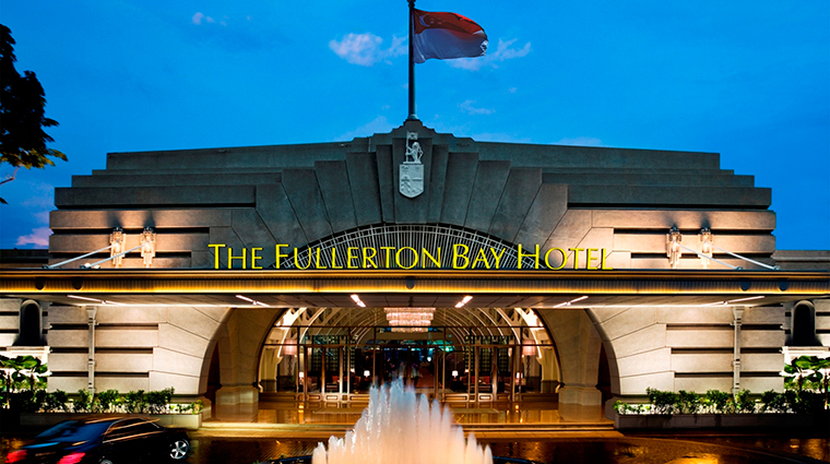 the fullerton bay hotel singapore exterior night