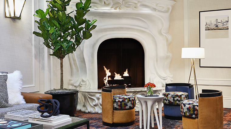 galleria park hotel lobby fireplace