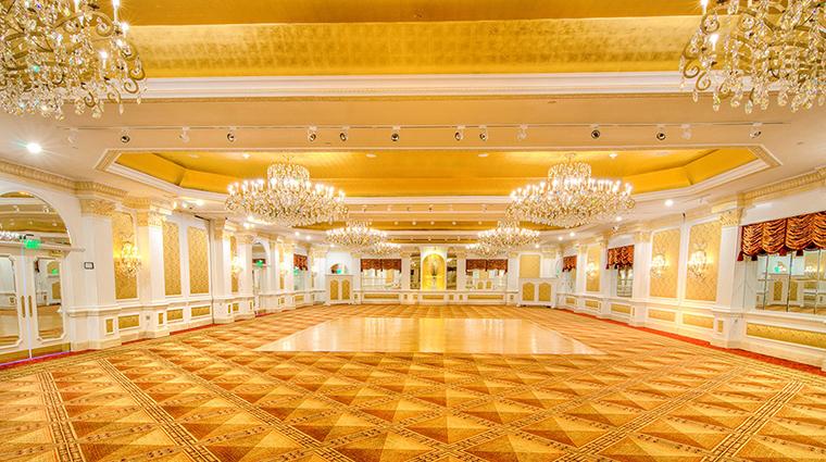 The Garden City Hotel gold ballroom