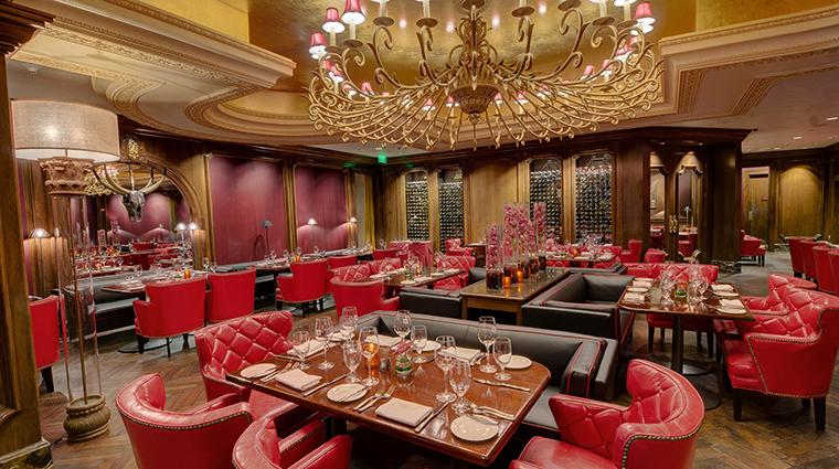 The Garden City Hotel red restaurant