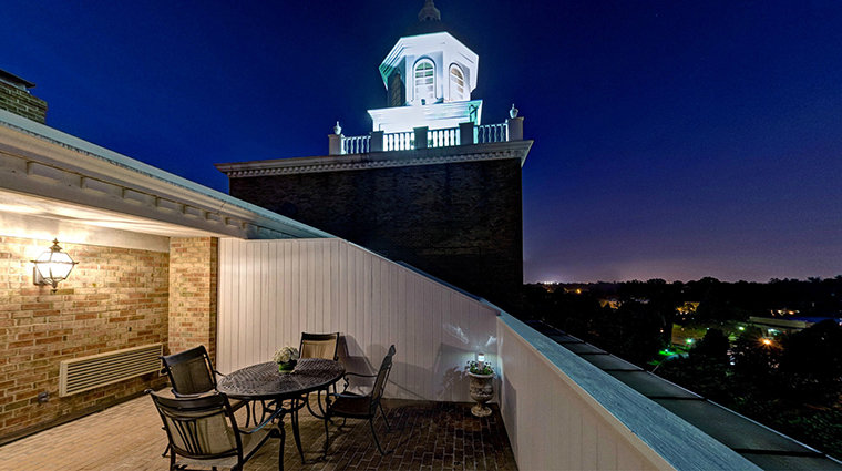 The Garden City Hotel suite night terrace