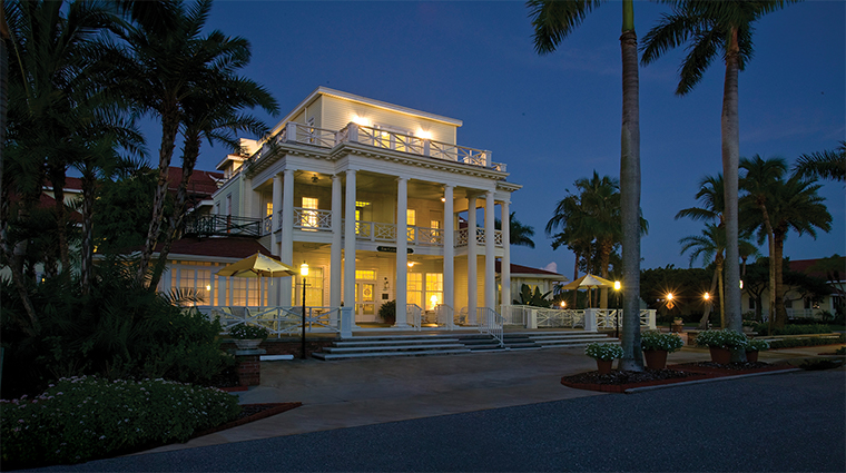 the gasparilla inn club evening exterior