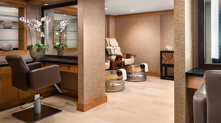 the grand spa at the grand america hotel pedicure hair station